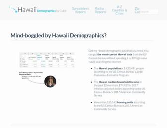 hawaii-demographics.com screenshot