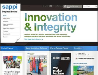 sappi.com screenshot