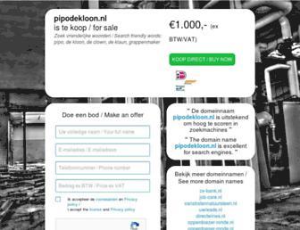 Main page screenshot of pipodekloon.nl