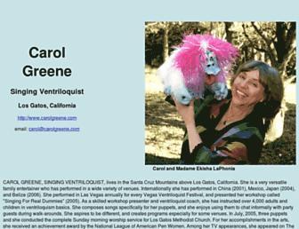 carolgreene.com screenshot