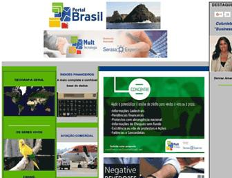 Main page screenshot of portalbrasil.net
