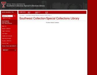 Main page screenshot of swco.ttu.edu