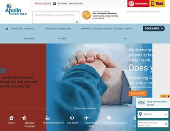 Thumbshot of Apollohospitals.com