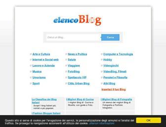 Main page screenshot of elencoblog.net