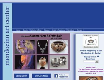 Main page screenshot of mendocinoartcenter.org