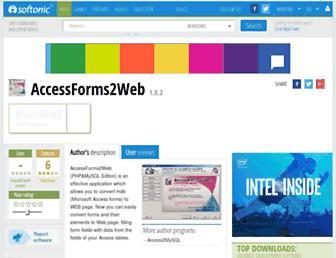 accessforms2web.en.softonic.com screenshot