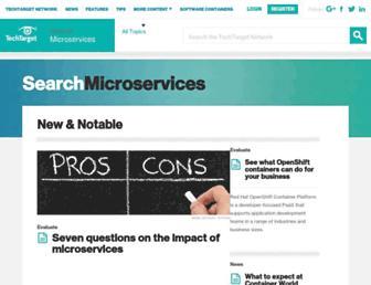 searchmicroservices.techtarget.com screenshot