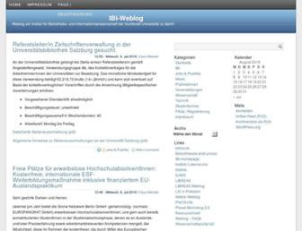 Main page screenshot of weblog.ib.hu-berlin.de