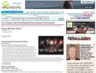 Thumbshot of Eventcrazy.com