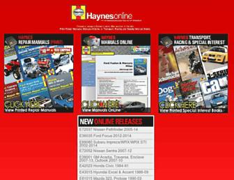 haynes.com screenshot