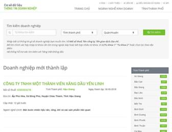 thongtindoanhnghiep.co screenshot