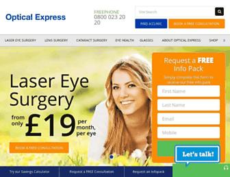 Thumbshot of Opticalexpress.com
