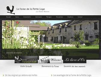 fermedelapetiteloge.com screenshot