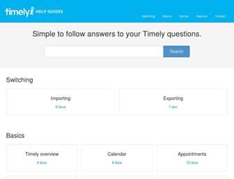 help.gettimely.com screenshot