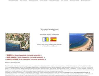 Main page screenshot of wyspykanaryjskie24.pl