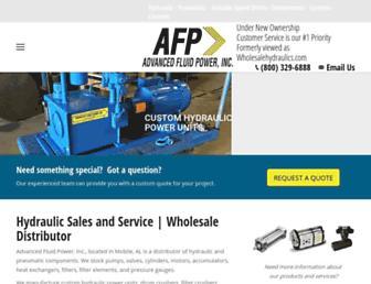 advancedfluidpowerinc.com screenshot