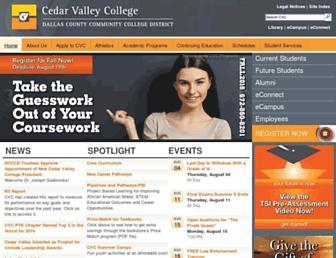 Main page screenshot of cedarvalleycollege.edu