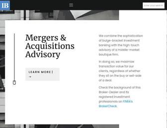 investmentbank.com screenshot