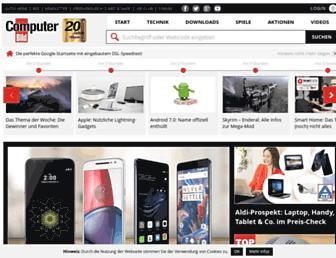 Main page screenshot of computerbild.de