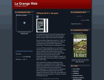 Main page screenshot of lagranges.typepad.fr