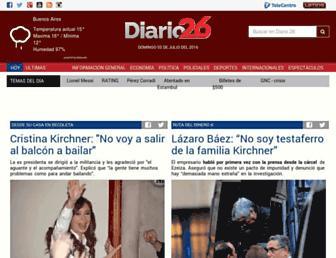diario26.com screenshot