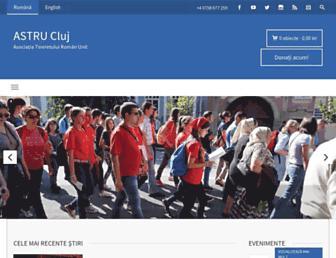Main page screenshot of cluj.astru.ro