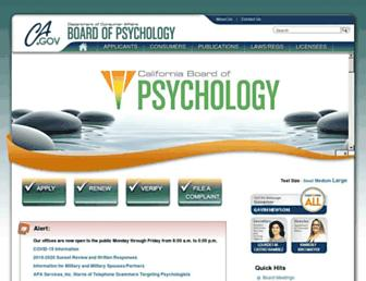 psychology.ca.gov screenshot