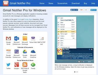 gmailnotifier.se screenshot