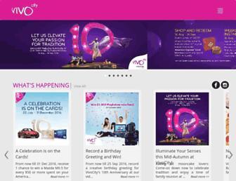 Main page screenshot of vivocity.com.sg