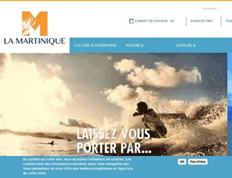 Main page screenshot of martinique.org