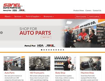 sanelautoparts.net screenshot