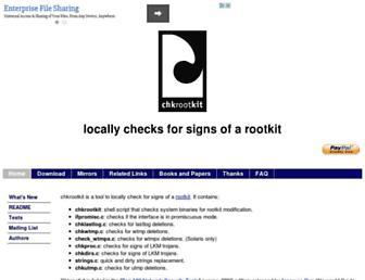 Thumbshot of Chkrootkit.org