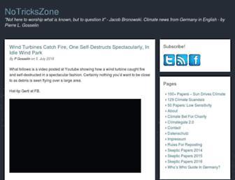 Thumbshot of Notrickszone.com