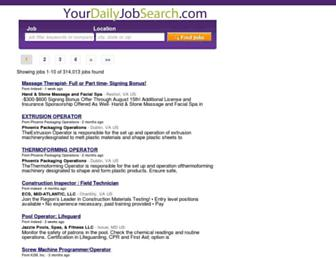 Thumbshot of Yourdailyjobsearch.com