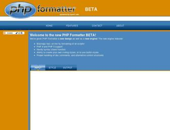 phpformatter.com screenshot