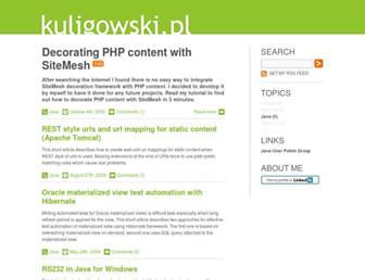 kuligowski.pl screenshot