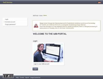 idm.uni-erlangen.de screenshot
