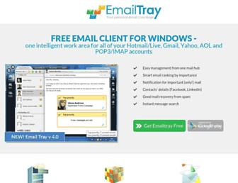 emailtray.com screenshot