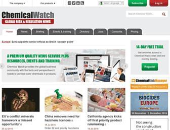 chemicalwatch.com screenshot