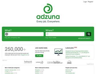 adzuna.in screenshot