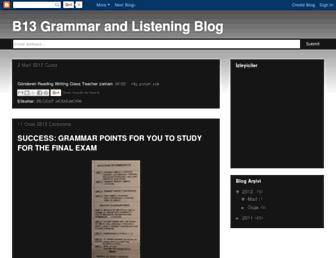 b13grammar.blogspot.com screenshot