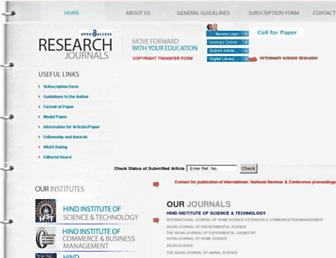 researchjournal.co.in screenshot