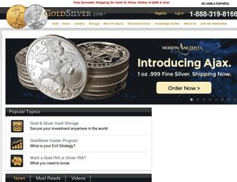goldsilver.com screenshot