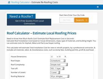 roofcalc.org screenshot