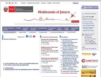 Main page screenshot of mef.gob.pe