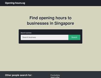 opening-hours.sg screenshot