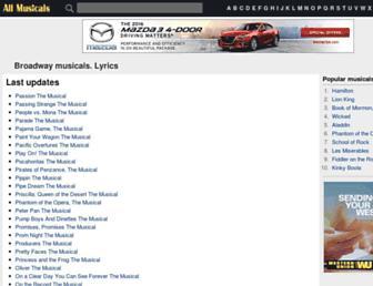 Thumbshot of Allmusicals.com