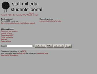 stuff.mit.edu screenshot