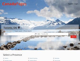 canadapages.com screenshot