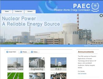 Screenshot for paec.gov.pk